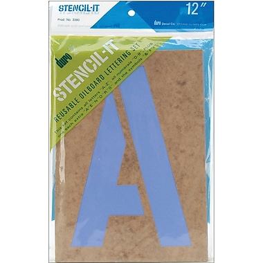 Duro Stencil-It Reusable Lettering Set, 12in.