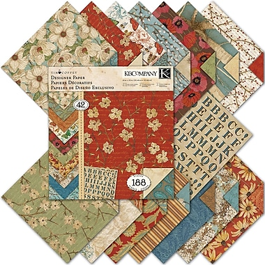 K&Company Blossomwood Double-Sided Designer Paper Pad, 12in. x 12in. - 42 Sheets Plus Die-Cut Stickers