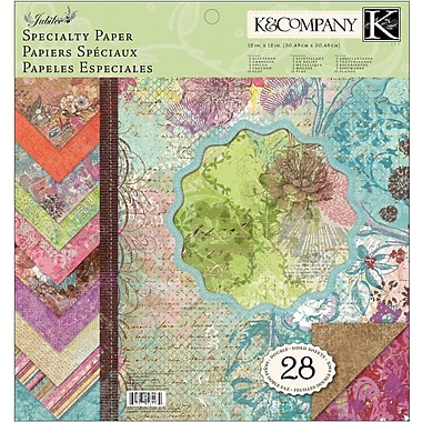 K&Company Jubilee Double-Sided Specialty Paper Pad, 12in. x 12in. - 28 Sheets