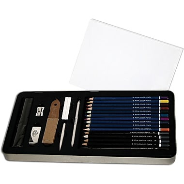 Royal Brush Deluxe Sketching Art Set W/Tin