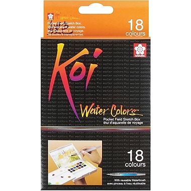 Sakura Koi Water Colors Pocket Field Sketch Box, 18 Colors