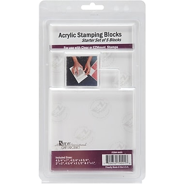 Crafter's Companion Acrylic Block Starter, Set Of 5