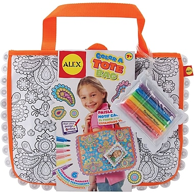 Alex Toys Color A Tote Bag Kit, Paisley Flower
