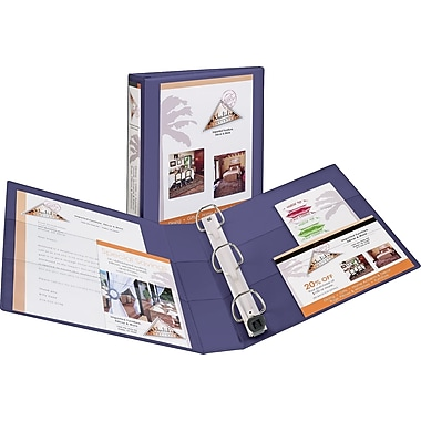 1in. Avery® Heavy-Duty View Binders with One Touch™ EZD® Rings, Purple
