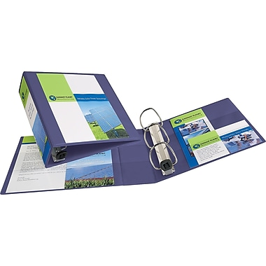 3in. Avery® Heavy-Duty View Binder with One Touch™ EZD® Rings, Purple