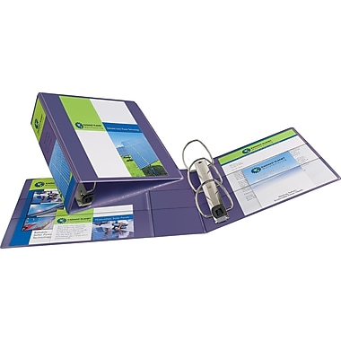 4in. Avery® Heavy-Duty View Binders with One Touch™ EZD® Rings, Purple
