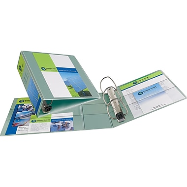 Avery Heavy-Duty 4-Inch One Touch EZD Ring View Binder, Sea Green (79347)