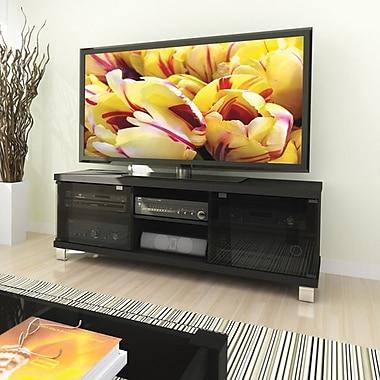 Sonax™ – Meuble de la collection Holland pour téléviseur de 59 po et composants, noir minuit