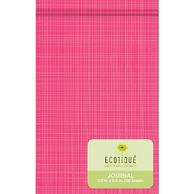 Pink Crosshatch Ecotique Journal, 3in. x 5in.