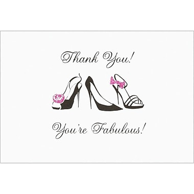Black Stiletto Glitter Thank You Note Cards