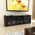 Sonax® Milan 67.75in. TV Bench with Real Wood Veneer, Piano Black