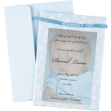 Great Papers® Baby Blue Photo Overlay Invitation Kit
