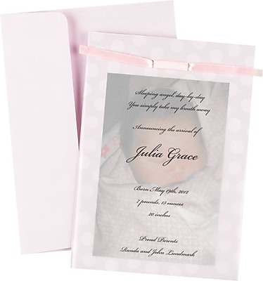 greatpapers com templates - image shop 20104108 pink baby dots invitation kit