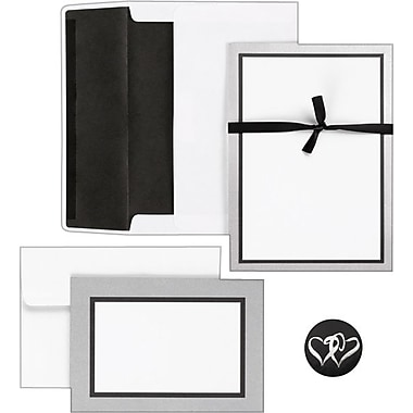Great Papers® Silver Trim Do It Yourself Metallic Silver Backer Invitation and Note Card Kit