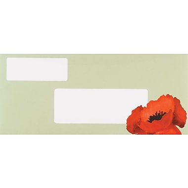 Great Papers® Dotted Green Poppies Envelopes