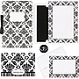 Black & White Damask Complete Invitation Kit
