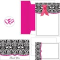 Great Papers® Classic Damask with Fuchsia Invitation, Notecard and Thank You Set