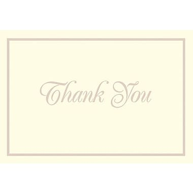 Great Papers® Pearl Border Ivory Thank You Note Cards, 50/Pack