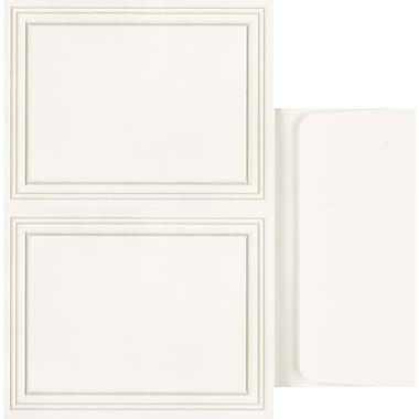 Great Papers® Triple Pearl Embossed Border Ivory 2-up Postcards with Envelopes