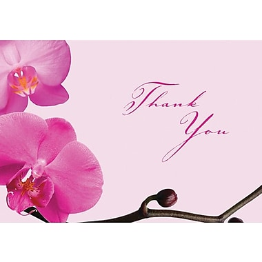 Great Papers® Pink Orchid Thank You Note Cards