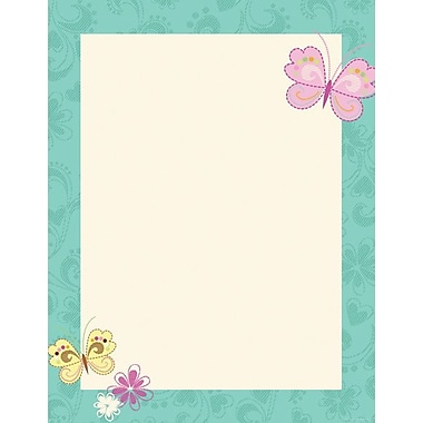 Great Papers Butterflies & Flowers Letterhead