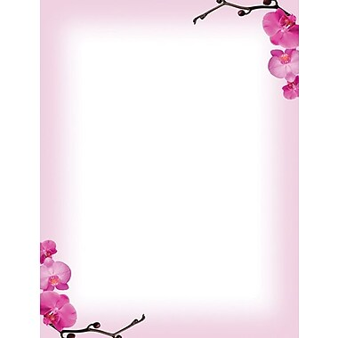 Great Papers® Pink Orchids Letterhead, 100/Pack