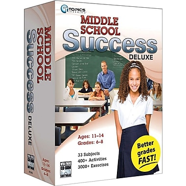 Topics Entertainment Middle School Success Deluxe 2010 for Windows/Mac (1-User) [Boxed]