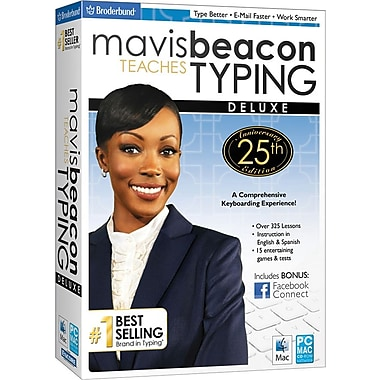 Encore Mavis Beacon Typing - 25th Anniversary Edition, Deluxe for Windows/Mac (1-User) [Boxed]