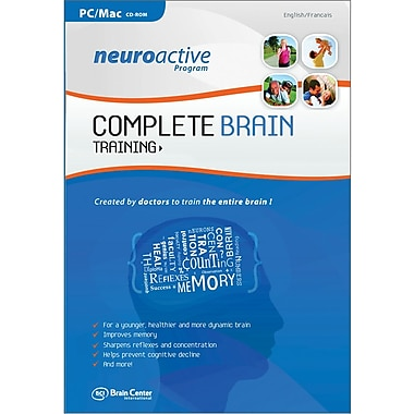 Brain Center America Neuroactive Program Complete Brain Train for Windows/Mac (1-User) [Boxed]