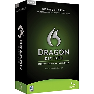 Dragon Dictate 2.0 Student/Teacher for Mac (1-User) [Boxed]