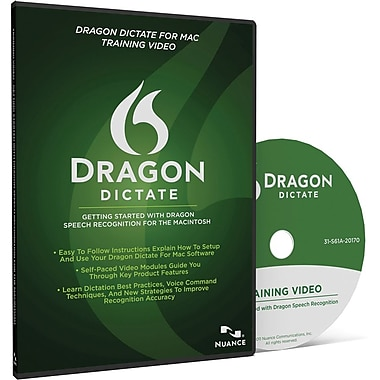 Nuance Communications Dragon Dictate 2.0 Training Video for Mac (1-User) [Boxed]