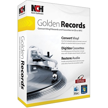 NCH Software Golden Records for Windows/Mac (1-User) [Boxed]