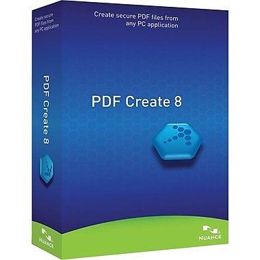 Nuance Communications PDF Create 8.0, English for Windows (1-User) [Boxed]
