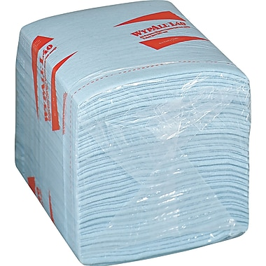 Kimberly-Clark® WypAll® Wipers, Unscented, Blue, 12 Packs/Case