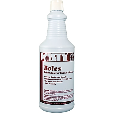 Misty Bolex 23% Hydrochloric Acid Bowl Cleaner , Wintergreen , 32 oz. Bottle