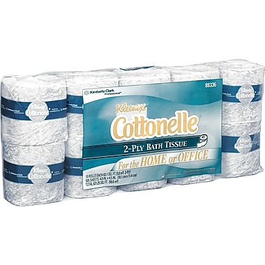Kleenex Cottonelle   Bathroom Tissue, 2-Ply, 40 Rolls/Case