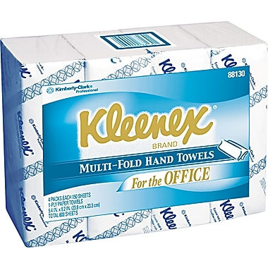 Kleenex® Multi-Folded Paper Towel, Unscented, White
