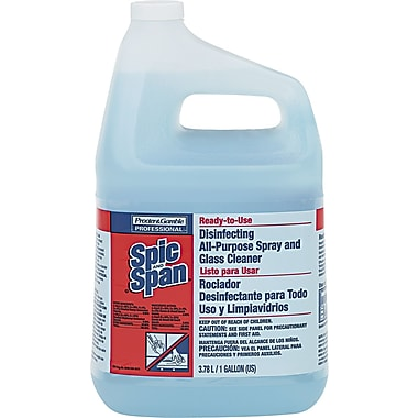 Spic & Span  Disinfecting All-Purpose Spray and Glass Cleaner, 1 gal., 3/Case