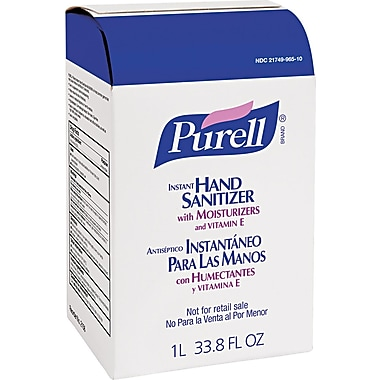 Purell® Advanced Instant Hand Sanitizer NXT , Unscented, Clear, 1000 ml Refill, 8/Pack