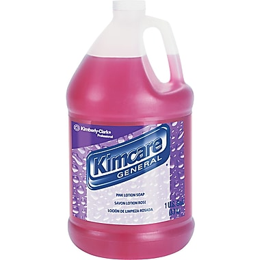 Kimcare Pink Lotion Skin Cleanser, Peach, 1 gal, 4/Case