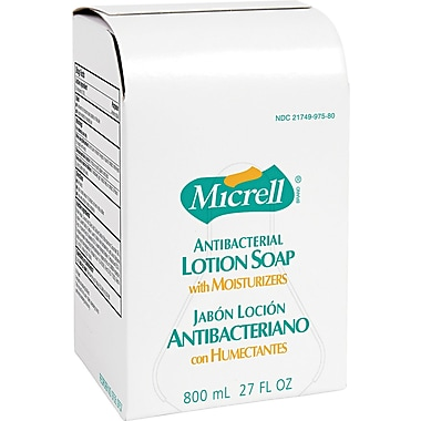 Micrell Antibacterial Hand Soap, Unscented, Refill, 800 ml, 12/Case