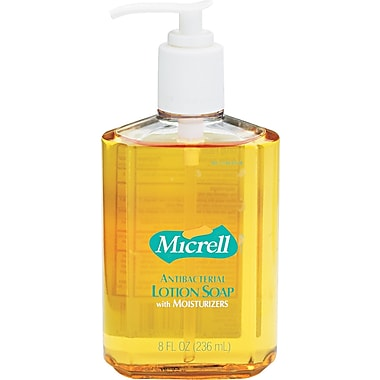 Micrell Antibacterial Hand Soap, Unscented, 8 oz., 12/Case