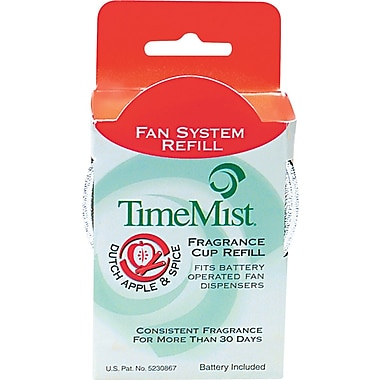 TimeMist  Fan Fragrance Cup Refill, Dutch Apple & Spice, Clear, 1 oz. Cup, 12/Case