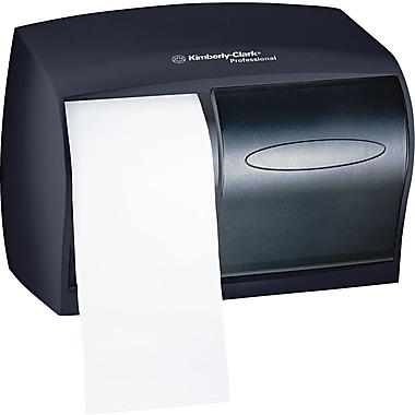 Kimberly-Clark In-Sight Double Roll Coreless Tissue Dispenser, Smoke/Gray, 7 5/8in.(H) x 11in.(W)