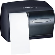 "Kimberly-Clark In-Sight Double Roll Coreless Tissue Dispenser, Smoke/Gray, 7 5/8""(H) x 11""(W)"