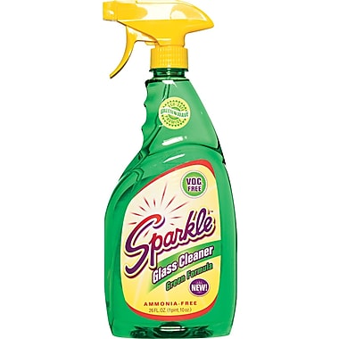 Sparkle Green Formula Glass Cleaner, Unscented, 26 oz. Trigger Bottle