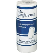 Preference®, 2 Ply, Perforated Roll Paper Towel, White, 85 Sheets/Roll, 30 Rolls/Case, (27385 )
