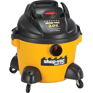 Shop-Vac  Right Stuff  Wet/Dry Vacuum, 6 gal, 3 hp, 19 lbs., Yellow/Black