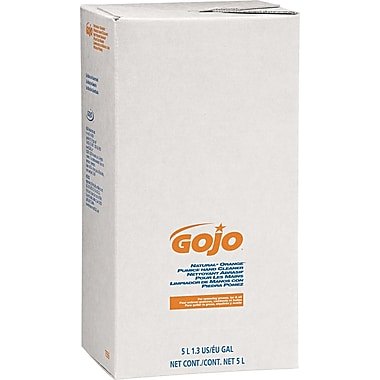 GOJO  PRO 5000 Natural Orange Pumice Hand Cleaner Refill, Orange Citrus, 5000 ml, 2/Case