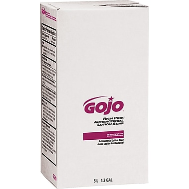 GOJO  PRO 5000 Rich Pink Antibacterial Lotion Soap Refill, Floral, 5000 ml, 2/Case